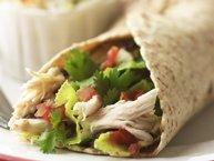 Bean and Salsa Chicken Wrap