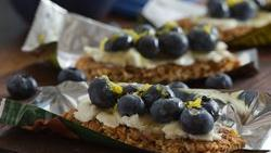 Blueberry Ricotta Granola Bars