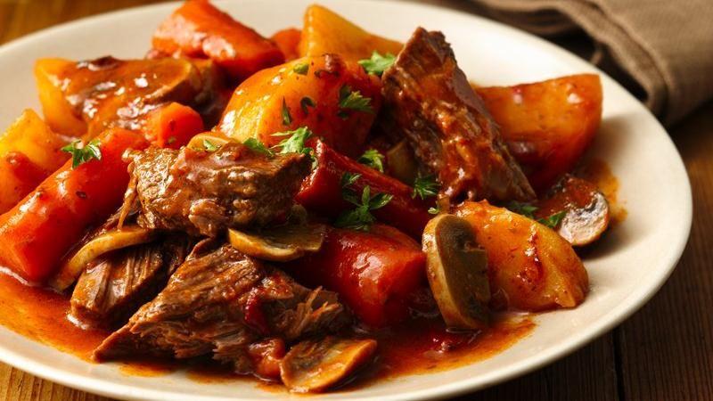 Slow-Cooker Fire Roasted Tomato Pot Roast
