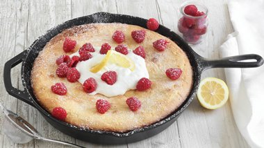 Lemon Custard Skillet Cake