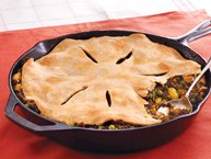 Curry Beef Samosa Pie
