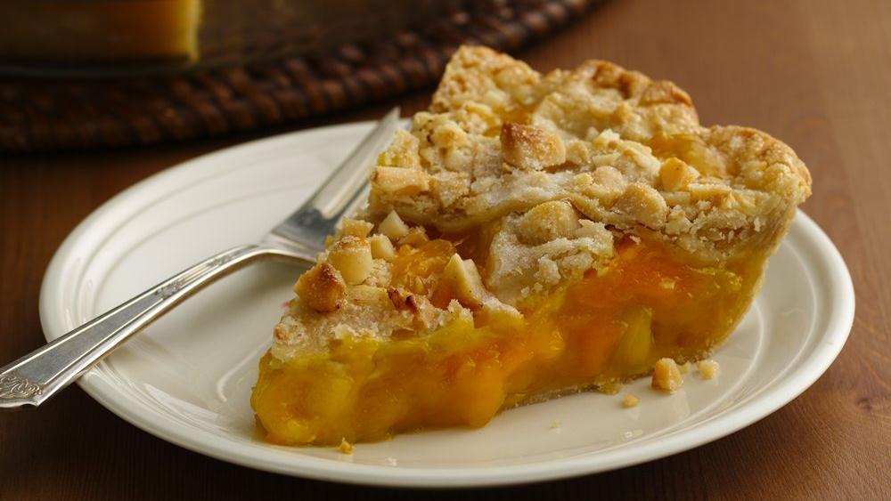 Mango Pineapple Pie with Macadamia Lattice Crust
