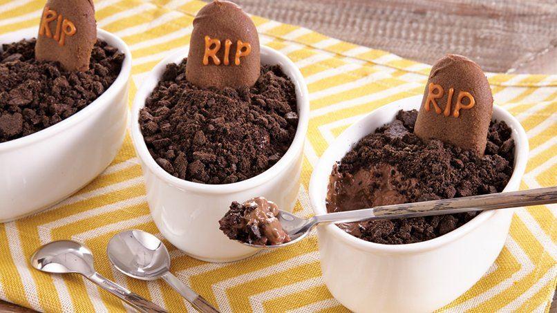 Chocolate Halloween Pudding