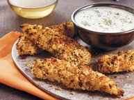 Buffalo Chicken Fingers with Blue Cheese Dressing