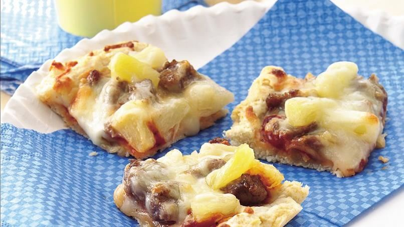 Sausage and Pineapple Pizza