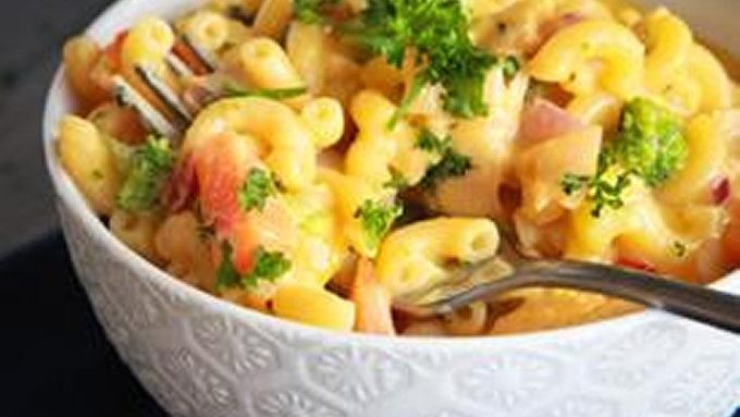 Chick and Veggie Mac and Cheese