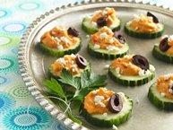 Cucumber-Hummus Stacks