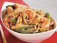 Shrimp and Sugar Peas Lo Mein