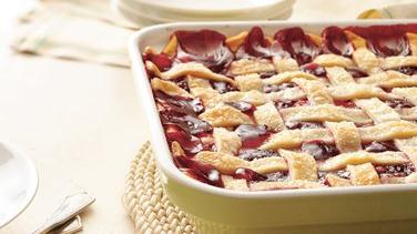 Apple-Raspberry Cobbler