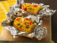 Grilled Corn Nibblers® with Lime Butter