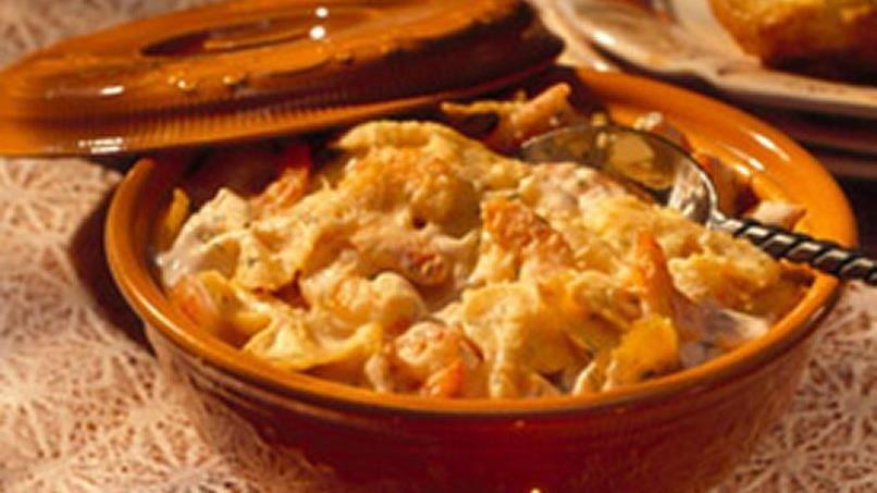 Parmesan-Shrimp Pasta Bake