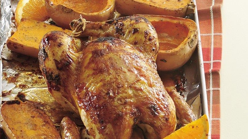 Teriyaki Roast Chicken and Squash
