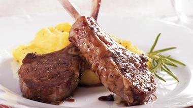 Cherry-Glazed Lamb Chops