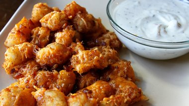 Cheesy Ranch Bacon Potato Nuggets with Ranch Dipping Sauce