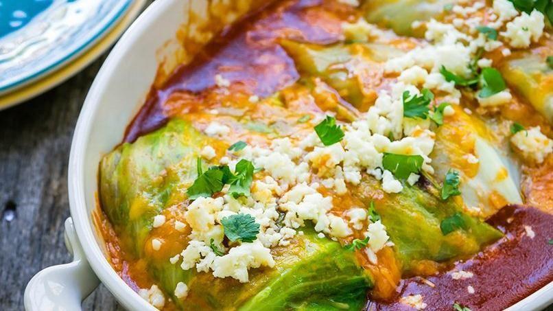 Enchiladas vegetarianas de repollo quericavida - Comidas rapidas de hacer en casa ...