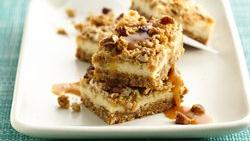 Toffee Brown Ale Cheesecake Bars