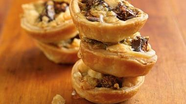 Gorgonzola, Fig and Walnut Tartlets