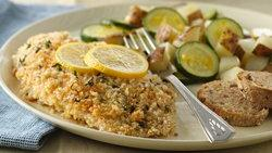 Herb-Crusted Tilapia with Lemon Potatoes