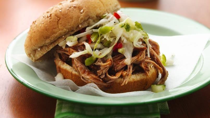 Slow-Cooker Carolina Pulled-Pork Sandwiches