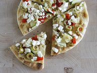 Mediterranean Flatbread Pizza Appetizer