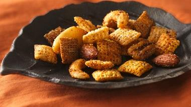 Spiced Nuts and Chex® Mix