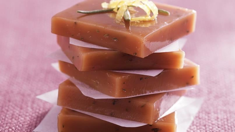 Lemon and Rosemary Caramels