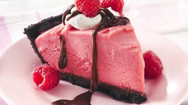 Frozen Chocolate-Raspberry Pie recipe from Betty Crocker