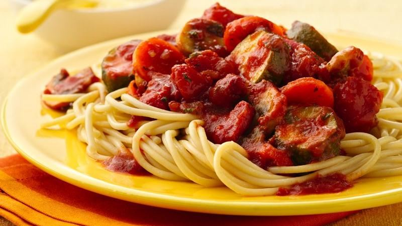 Chunky Vegetable Spaghetti