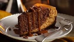 Chocolate Bourbon Pumpkin Cheesecake