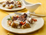 Slow-Cooker Pot Roast with Creamy Dill Sauce