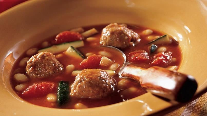 White Bean-Turkey Meatball Chili