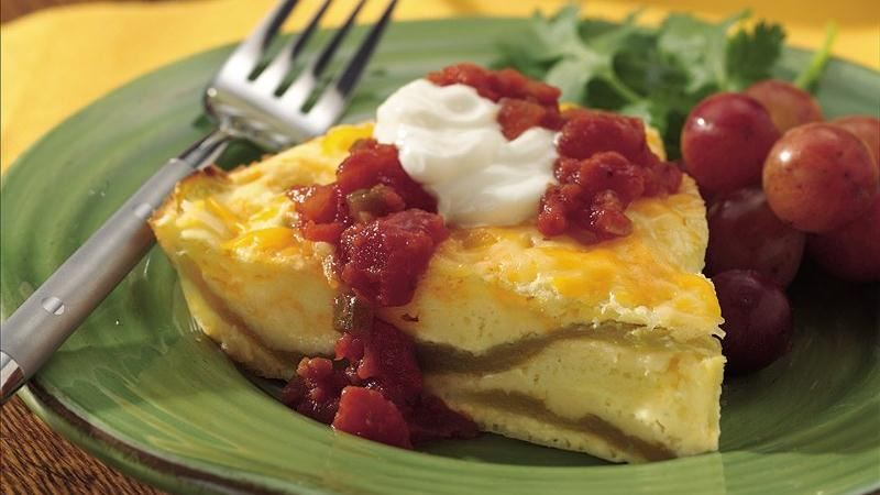 Impossibly Easy Chiles Rellenos Pie recipe from Betty Crocker