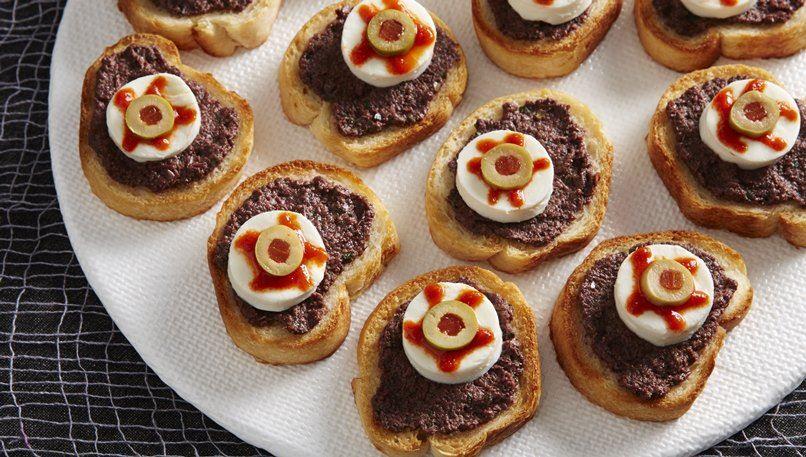 Cheesy Eyeball Appetizer Bites