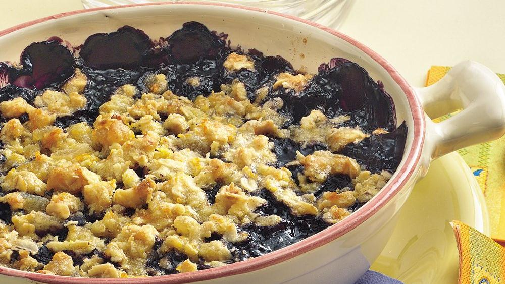 Ginger-Blueberry Crisp