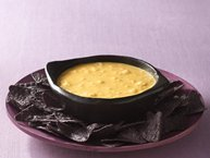 Bubbling Cauldron Cheese Dip with Bat Wing Dippers