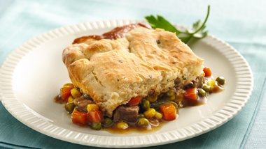 Beef Pot Pie with Potato Biscuit Crust