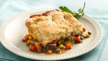 Beef Pot Pie with Potato Biscuit Crust