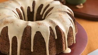Apple-Walnut Cake with Caramel Glaze