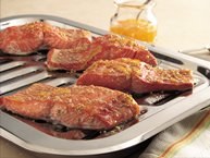 Broiled Salmon with Orange-Mustard Glaze