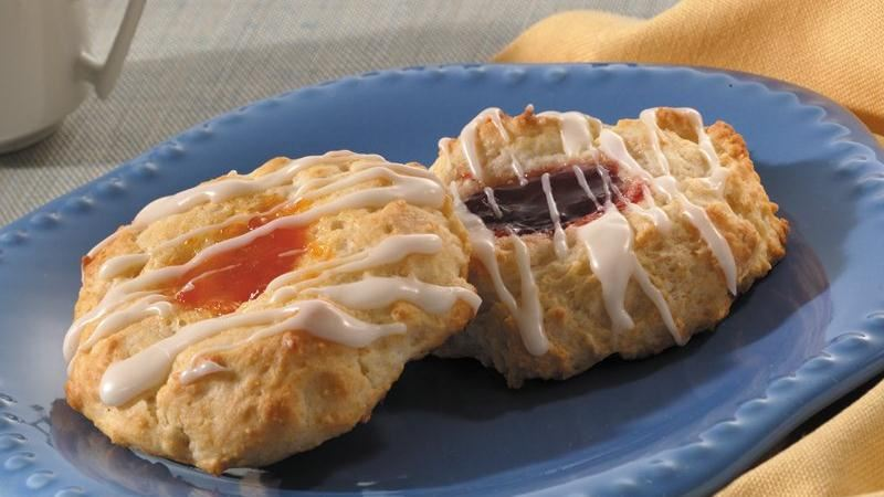 Glazed Fruit-Filled Drop Biscuits