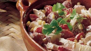 Salsa Chicken Potato Salad