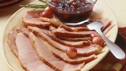 Slow-Cooker Ham with Currant-Cherry Sauce