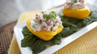 Pineapple Chicken Salad Stuffed Peppers