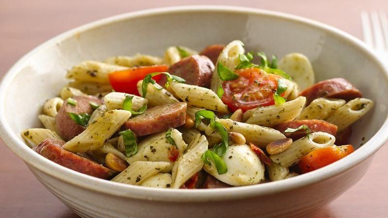 Caprese Sausage Pasta Salad