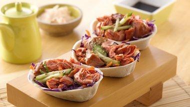 Teriyaki Salmon Mini Taco Boats™
