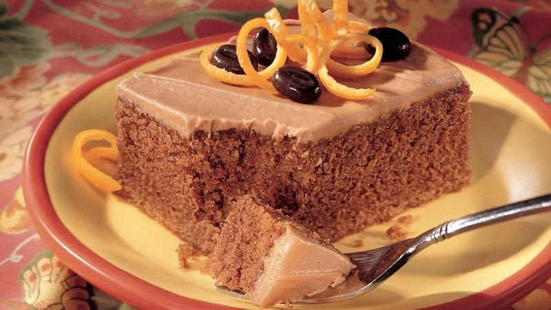 Orange Cappuccino Cake recipe from Betty Crocker