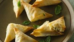 Basil Cheese Triangles