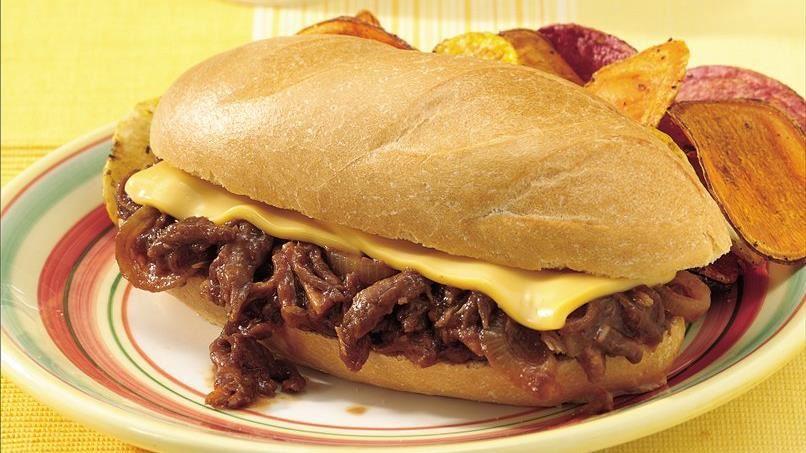 Cheesy Barbecue Pork Sandwiches