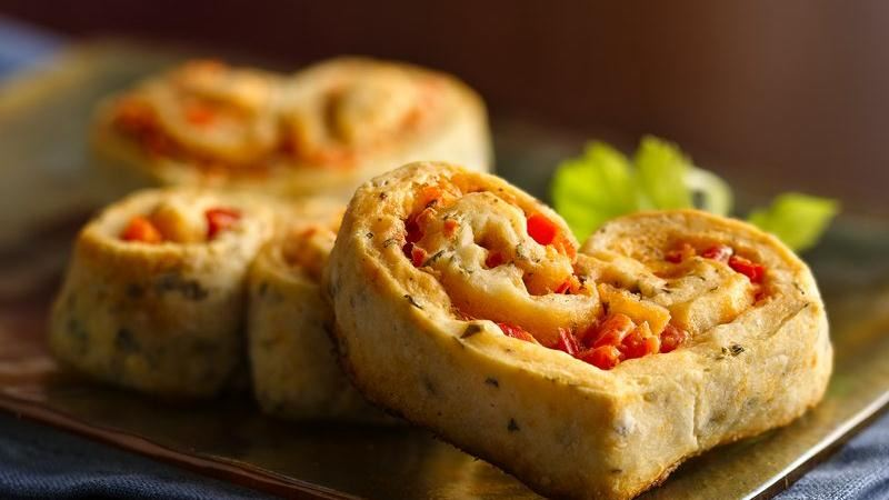 Red Pepper-Filled Appetizer Hearts