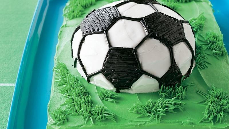 Soccer Ball Cake recipe from Betty Crocker